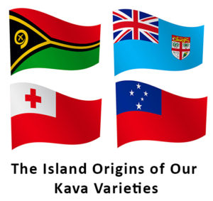 Flags for Vanuatu, Fiji, Samoa and Tonga